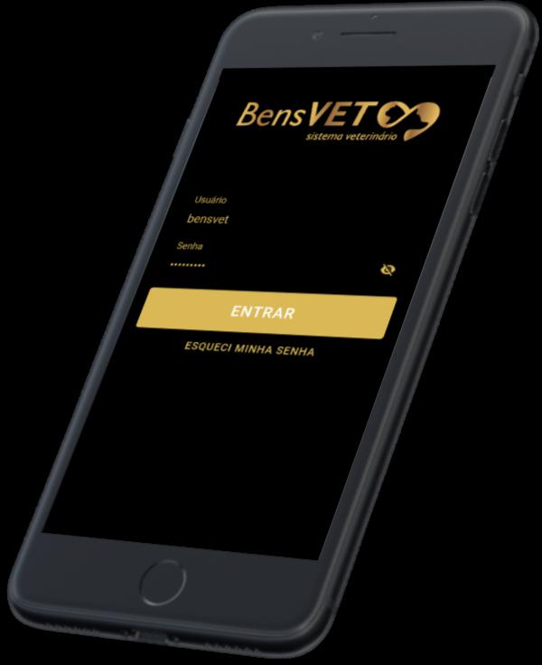 Celular com Aplicativo de Gestão Veterinária BensVET
